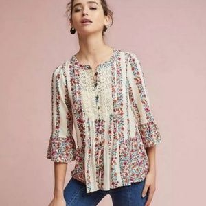 """Maeve l """"Hiver"""" Floral Blouse from Anthropologie"""